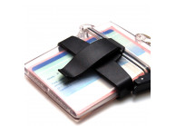 Belt clip for clearbox identity documents holder