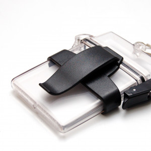 Belt clip for clearbox badge holders