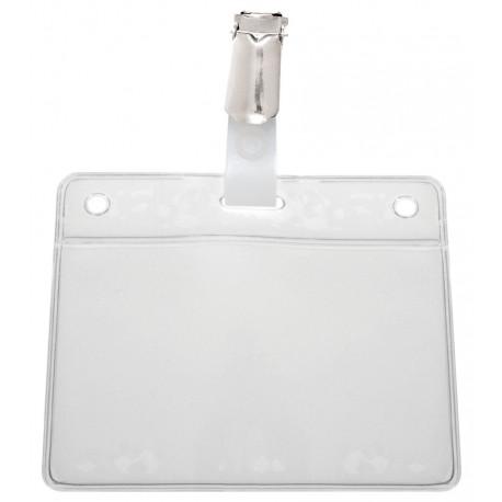 Weiche Kartenhülle mit Kartenclip (Hosenträgerklemme und verstärkte Lasche) - IDS48
