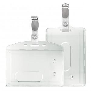 Kartenhalter mit Kartenclip (Hosenträgerklemme und verstärkte Lasche) - IDS48