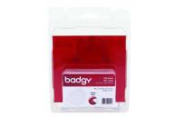 Packung mit 100 weißen bedruckbaren Karten, Dicke 0,50 mm, ideal für Badgy