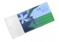 Durchsitige Kartenhülle aus Hart-Kunststoff