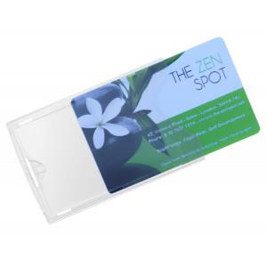 Durchsichtige Kartenhülle aus Hart-Kunststoff
