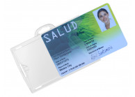 Porte-badge transparent (recto/verso) IDX, en polycarbonate rigide