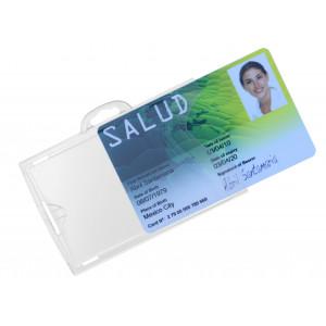 Porte-badge transparent (recto/verso) IDX, en polycarbonate rigide
