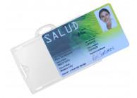 IDX 140 Badge holder - Transparent /frosted - Landscape