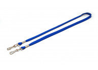 12 mm tube polyester lanyard with 2 swivel hooks