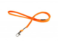 12 mm tube polyester lanyard with nickel-plated dog hook and breakaway safety feature