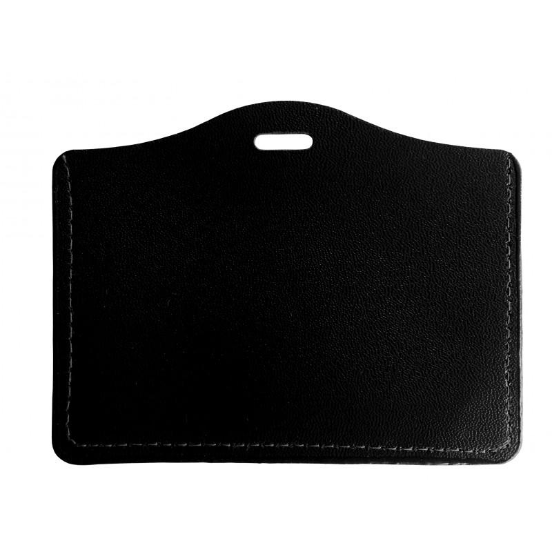 Porte Badge Aspect Cuir Pour Carte X Mm Sogedex - Porte badge cuir