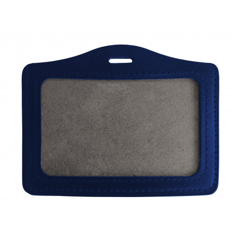 Porte badge aspect cuir pour carte 86 X 54 mm