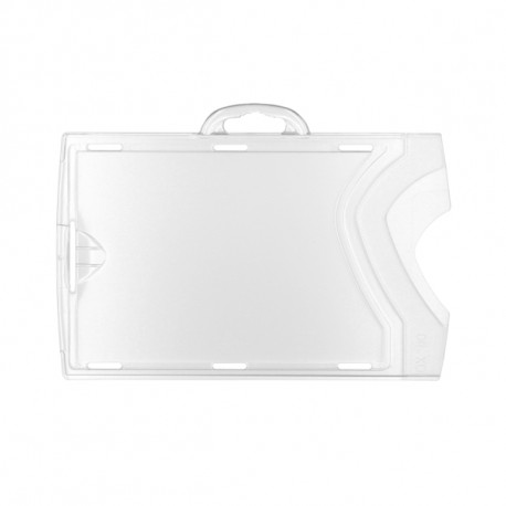 Horizontal Badge holder - transparent / frosted (per 10)