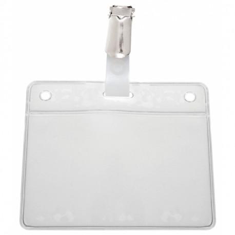 IDS46 : porte-badge prêt à l'emploi avec clip (lot de 25)