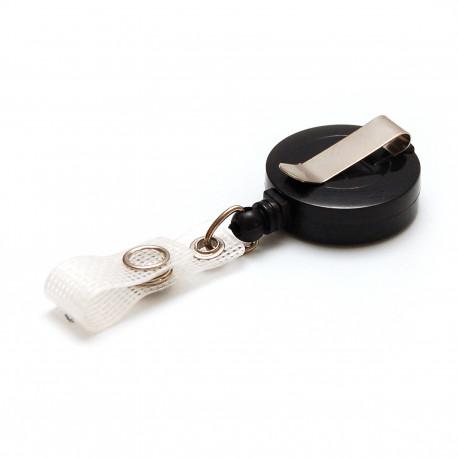 IDS940 : Enrouleur badge en plastique noir (par 10)
