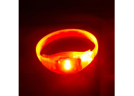 Sound triggered LED lighting wristband