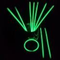 Bracelet / bâton fluorescent (glow sticks) - Vert