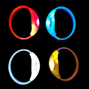 Bracelet lumineux LED avec activation sonore