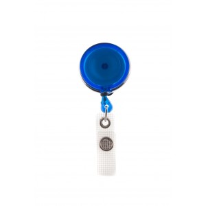Plastic badge reel with rotative metal clip