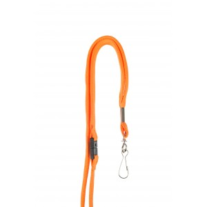 12 mm tube polyester lanyard with swivel hook and breakaway safety feature