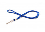 Polyester round lanyard 4mm with breakaway safety feature
