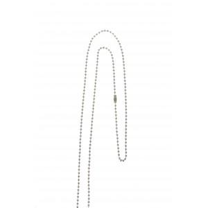Chaînette métal 92cm pour badge ou porte-badge