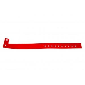 Vinyl plastic event wristbands L type - Glossy