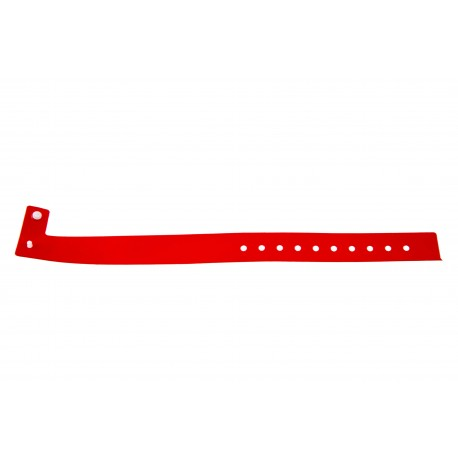 Vinyl plastic event wristbands L type - Glossy