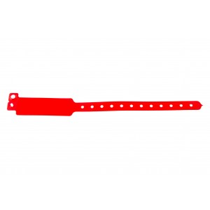 Plastic vinyl event wristbands Wide-face type - Glossy