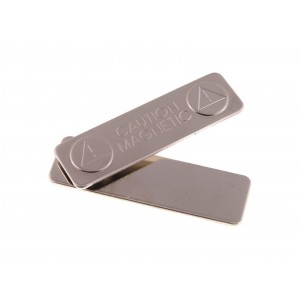 Magnetic badge clip with adhesive pad