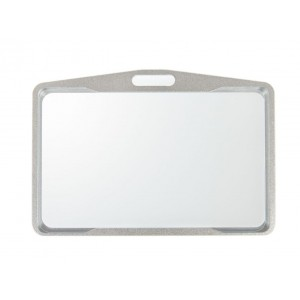 Silvery badge-holder
