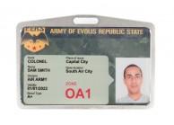 Porte-badge métallisé argenté