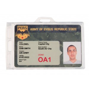Lockable or definitively lockable ID holder IDS76+