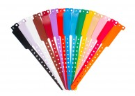 Plastic vinyl event wristbands Wide-face type - Matt