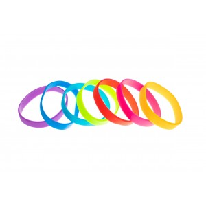 Pack of 100 Silicone wristbands - Adult size