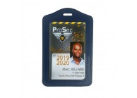 PVC Leather badge holder for card 86x54mm