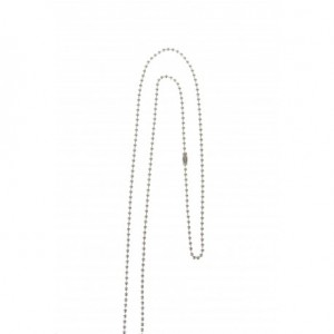Nickel-free steel beaded neck ball chain 72cm