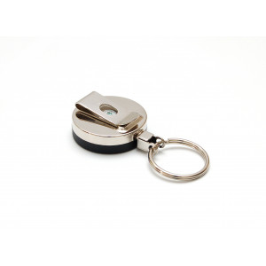 IDS92 : Metal case badge reel with nylon cord and key ring