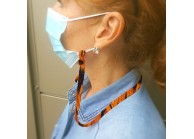 Face mask holder lanyard, 10mm satin polyester lanyard, full printed in DYE SUB
