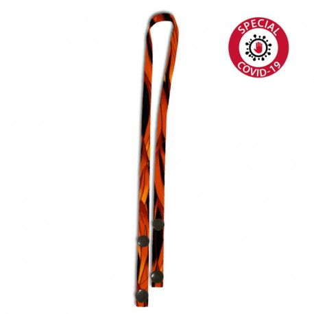 Face mask holder lanyard, 10mm satin polyester lanyard, full printed in DYE SUB