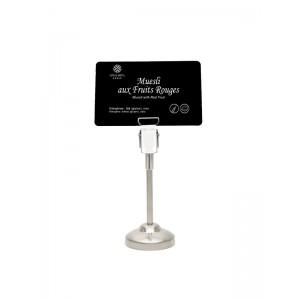 Standfuß aus Metall für Schilder - ideal für Buffets