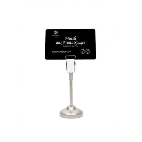 Support en métal pour étiquette - idéal pour buffet