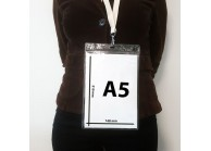 Porte badge A5 transparent souple