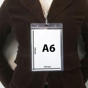 Porte badge A6 transparent souple - PVC recyclé