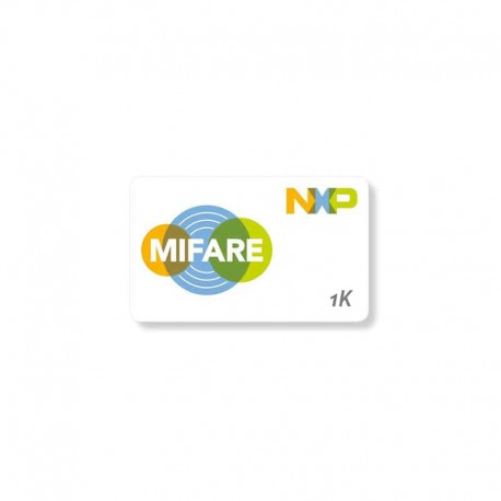 Pack of 100 MIFARE® Classic White PVC printable cards