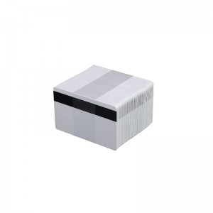 Pack of 500 white PVC printable cards with HICO magnetic stripe