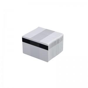 Packung mit 500 PVC-Karten, weiß, mit HiCo-Magnetstreifen
