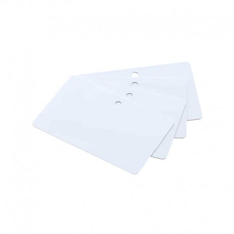 Lot de 500 cartes à imprimer PVC Blanche perforation 5 mm
