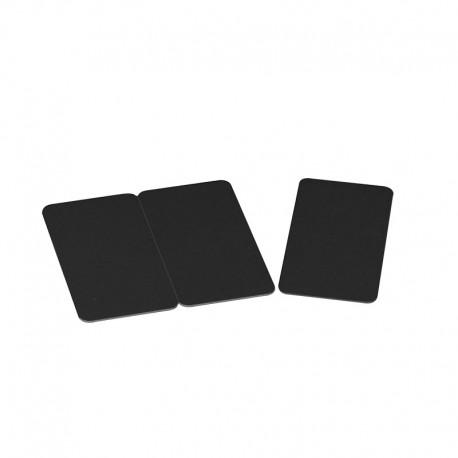 Lot de 500 tricartes à imprimer sécables PVC noires