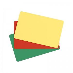 Packung mit 100 PVC-Karten – Hochglanz-Oberfläche