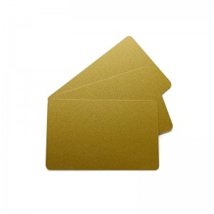 Pack of 100 metallic effect PVC print cards - Glossy finish