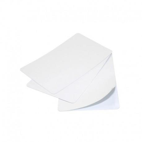 Lot de 100 cartes à imprimer PVC blanches – 1 face adhésive